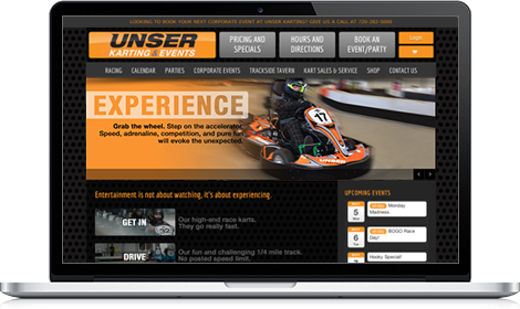 Unser Website laptop version
