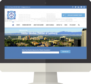 Glendale Colorado Chamber of Commerce Web Design