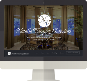 Natalie Vasquez Interiors Website Design